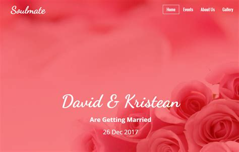 bootstrap themes free wedding soulmate bootstrap html free wedding template webthemez