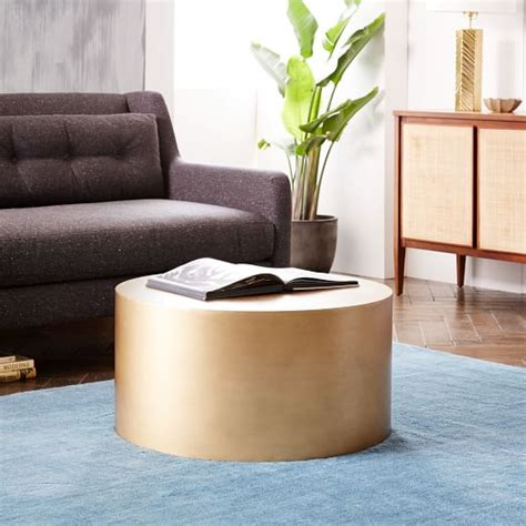 metal drum coffee table metal drum coffee table west elm