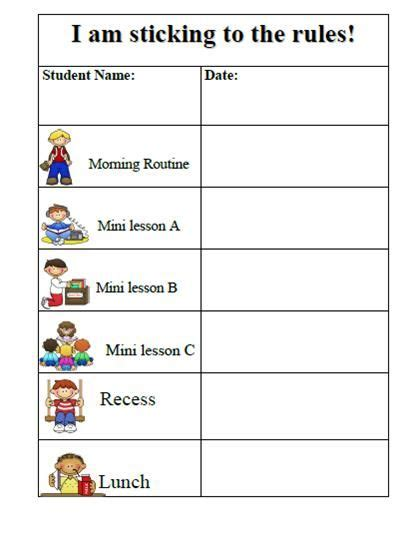 Behavior Charts For Preschoolers Template 10 best images of behavior charts for preschoolers