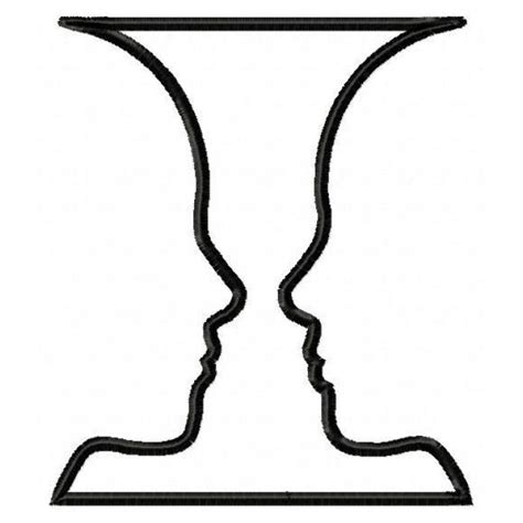 Two Faces And A Vase Optical Illusion Face Or Vase Type 1 Cliparts Co