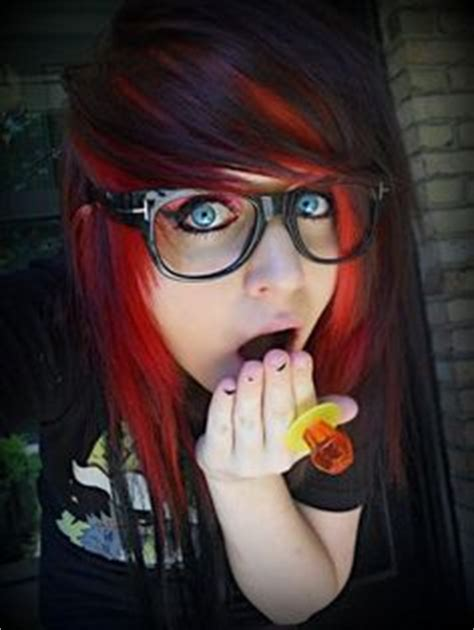 emo hairstyles red and black emo punk scene hair