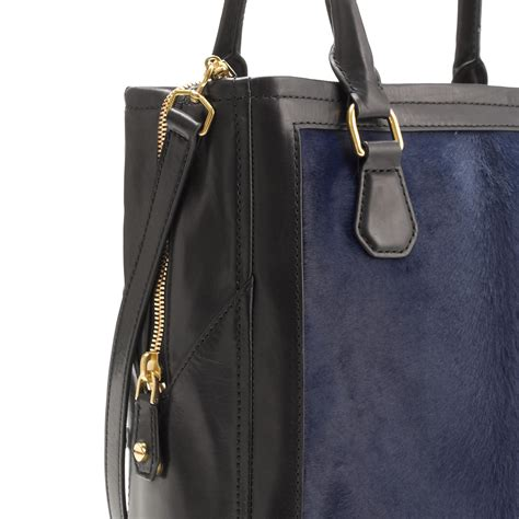 Jcrew Gillian Calf Hair Bag by J Crew Biennial Tote In Calf Hair In Blue Lyst