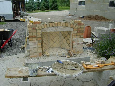 How To Build Outdoor Gas Fireplace by How To Build An Outdoor Fireplace Step By Step Guide