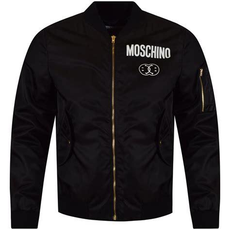 Moschino Bomber Jacket moschino moschino black smile logo