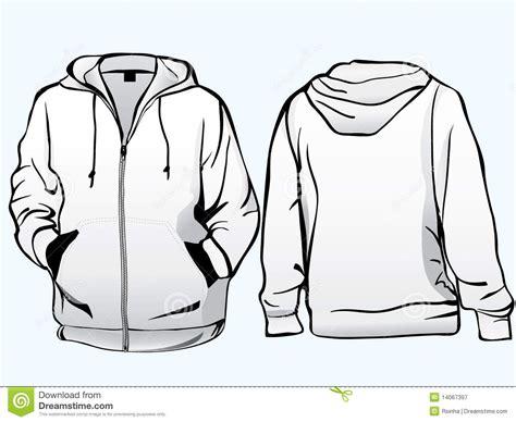 women s hooded sweatshirt with pocket template vector jacket or sweatshirt template royalty free stock