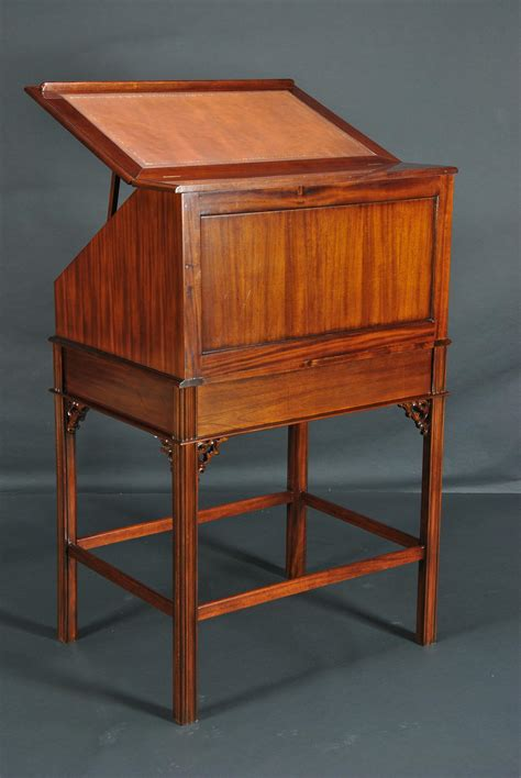 standing desk with drawers mahogany and leather stand up desk upright desk with drawers