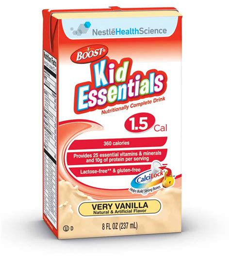 Chil Go Vanilla 1 Pags boost kid essentials 1 5 cal vanilla 8 ounce boxes pack of 27 nutrition