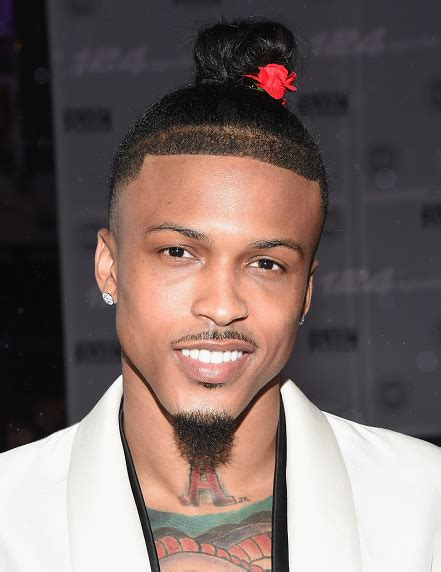 august hairstyle cut hot shots august alsina debuts new man bun that grape juice