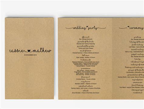 wedding program template 41 free word pdf psd