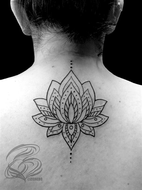tattoo lotus geometric lotus mandala tattoo on behance