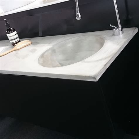 concrete bathroom vanity top imperfektions 1500 concrete vanity top just bathroomware
