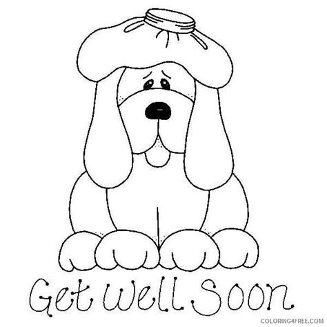 hello kitty get well soon coloring pages get well soon coloring pages feel better coloring4free