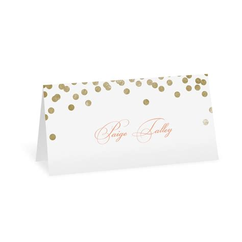 Wedding Invitations Place Cards by Gold Polka Dots Place Card Invitations By