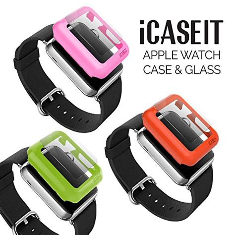apple watch green light icaseit apple watch snap on case glass 42mm pack of 3