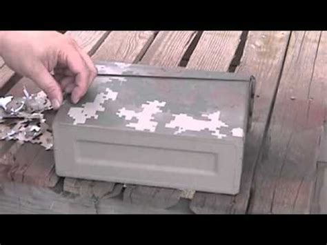 How To Make Paper Spray - paper stencil and spray paint camo