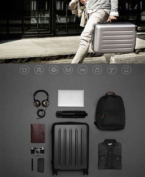 genuine xiaomi 90 minutes spinner wheel luggage tsa coded