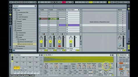 Ableton Live 9 Drum Rack by Drum Rack En Ableton Live 8 Espa 241 Ol Parte 1