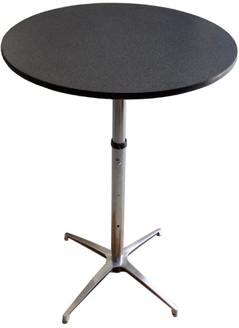 adjustable height round banquet table 24 30 or 36 diameter