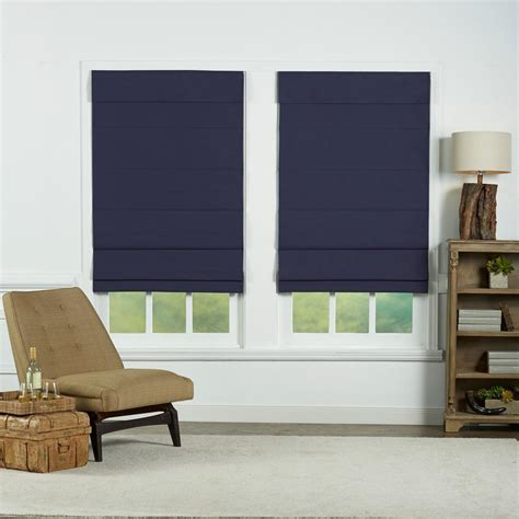 navy and white l shade perfect lift window treatment navy insulating cordless