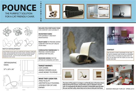 layout presentation board design studio introduction to furniture amandakressler
