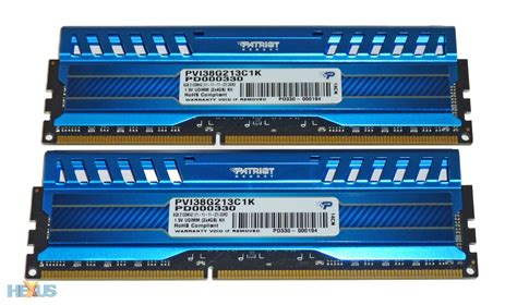 Ram Ddr3 Merk Patriot review patriot intel masters ddr3 2 133 memory ram hexus net