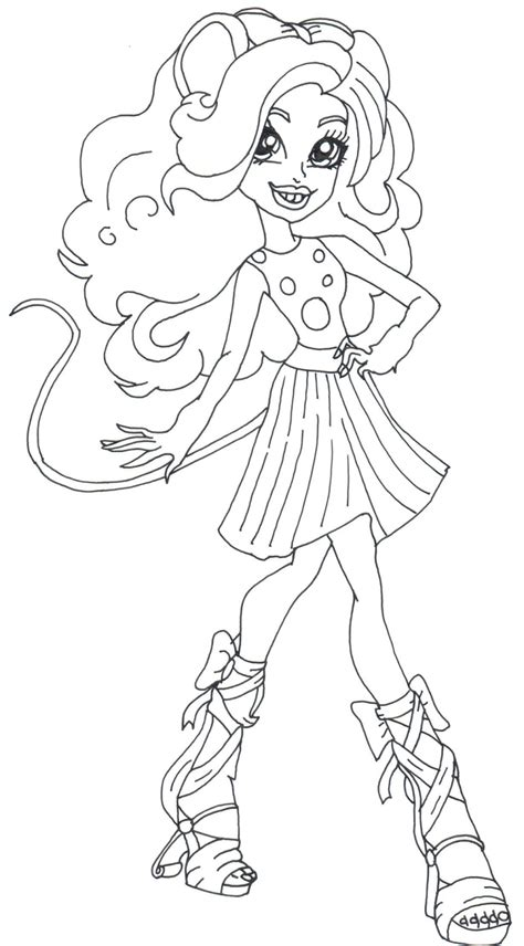 monster high coloring pages astranova free printable monster high coloring pages mouscedes king