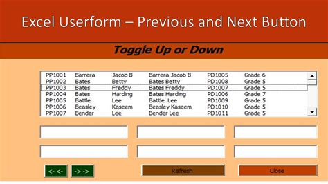 online tutorial vba excel userform previous and next buttons excel vba online pc