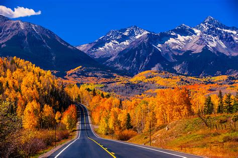 the only north american mountains that blow colorado away fall color colorado highway 145 in the san juan mountains