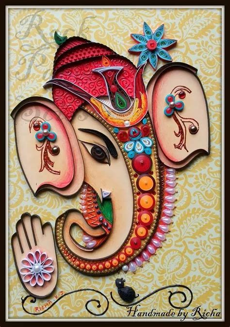 quilling work tutorial quilled ganesha paper quilling ideas pinterest