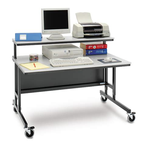Adjustable Height Computer Desk Workstation Da Lite Height Adjustable Computer Workstation Pct