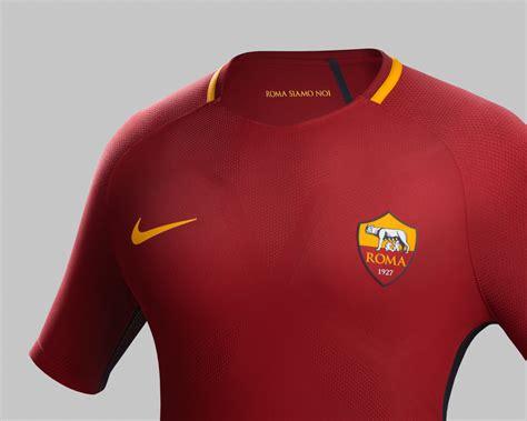 Jersey Bola Stelan As Roma Home 17 18 Grade Ori Set roma ecco la nuova maglia home 2017 18