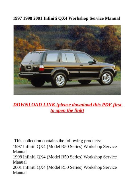 how it works cars 1997 infiniti qx electronic valve timing 1997 1998 2001 infiniti qx4 workshop service manual by abcdeefr issuu