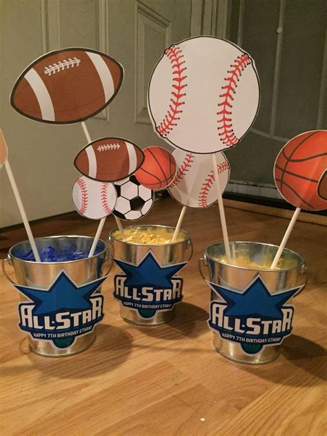 25 best ideas about sports themed centerpieces on