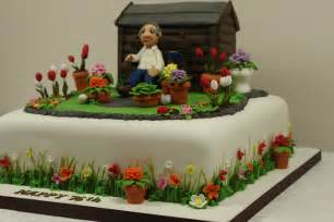 garten torte garden cake side detail a cake for a 75th birthday