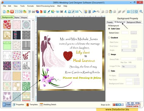 invitation graphic design software wedding card designing software design beautiful