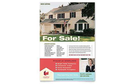 real estate for sale flyer template home real estate flyer template design