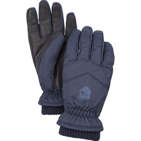 womens knit gloves hestra womens rib knit ski glove in navy hestra womens