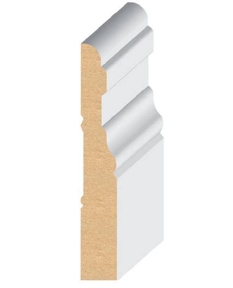 mdf quot el el wood products colonial mdf baseboard moulding 3 1