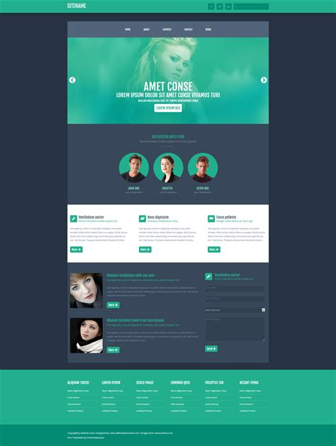 Free One Page Website Html Template Free Html5 Templates Single Page Website Template