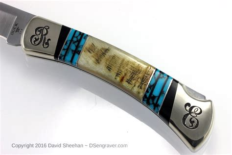 engraved buck knives engraved buck knife david sheehan engraver