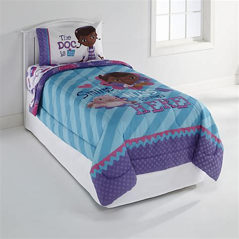 doc mcstuffins twin bed set disney doc mcstuffins girl s twin comforter