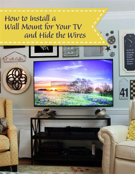 ways to mount a tv wall mounted tv with hidden wires tutorial pretty handy