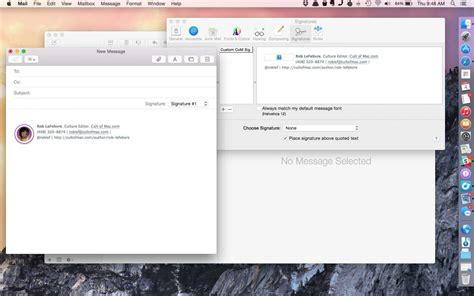 create  html signature  apple mail cult  mac