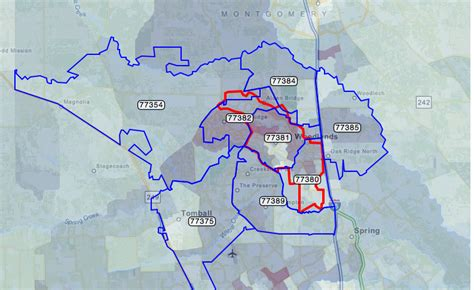 zip codes texas map montgomery county zip code map images