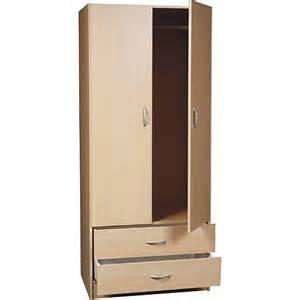 2 door wardrobe with drawers maple furniture walmart