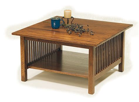 Crest Coffee Table Elm Crest 04 Square Mission Coffee Table