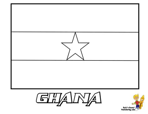 Free Coloring Pages Of Flag Of Ghana | distinguished flag pictures coloring nations falkland