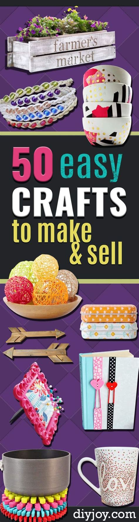 easy craft projects to sell 50 easy crafts to make and sell make and sell