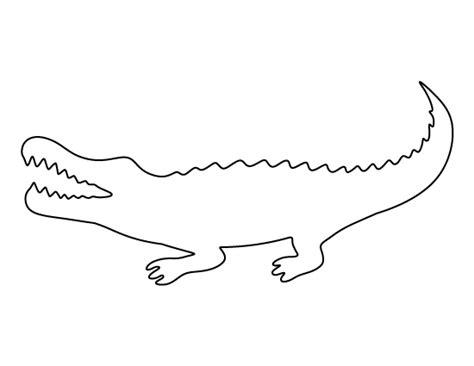 Crocodile Image Outline by Alligator Outline
