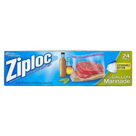 ziploc all purpose half gallon marinade bags